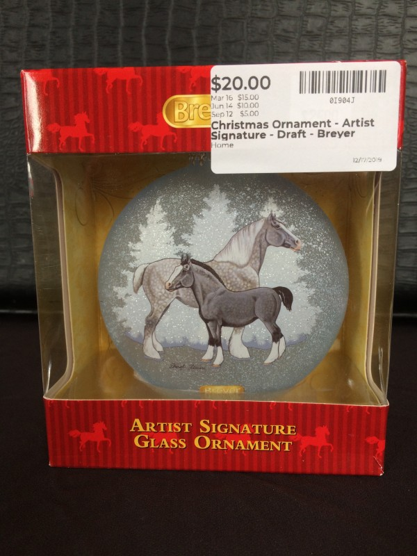 Christmas Ornament - Artist Signature - Draft - Breyer
