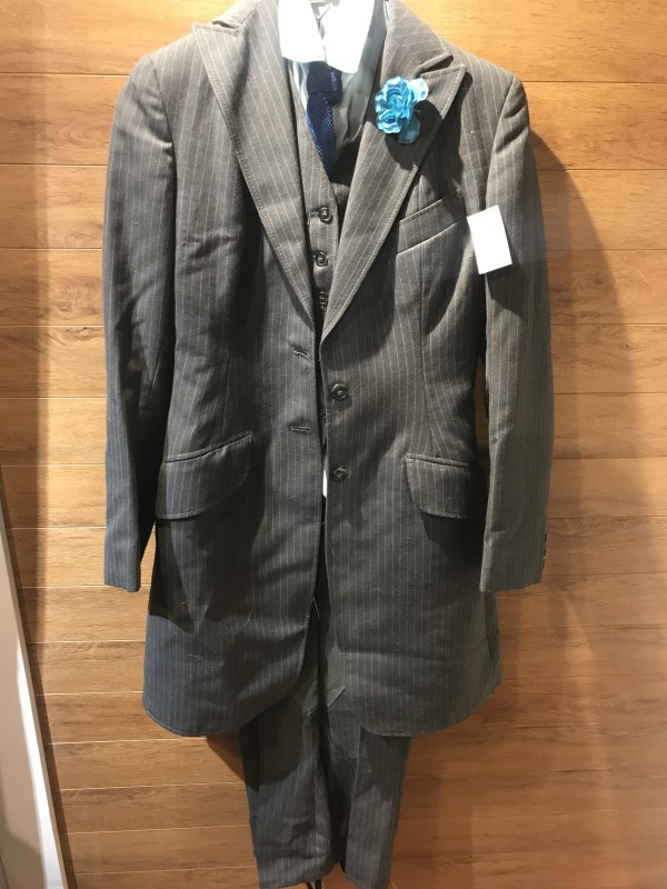 Saddle Seat Suit - Grey Pinstripe - Equestrian - Youth 14/16