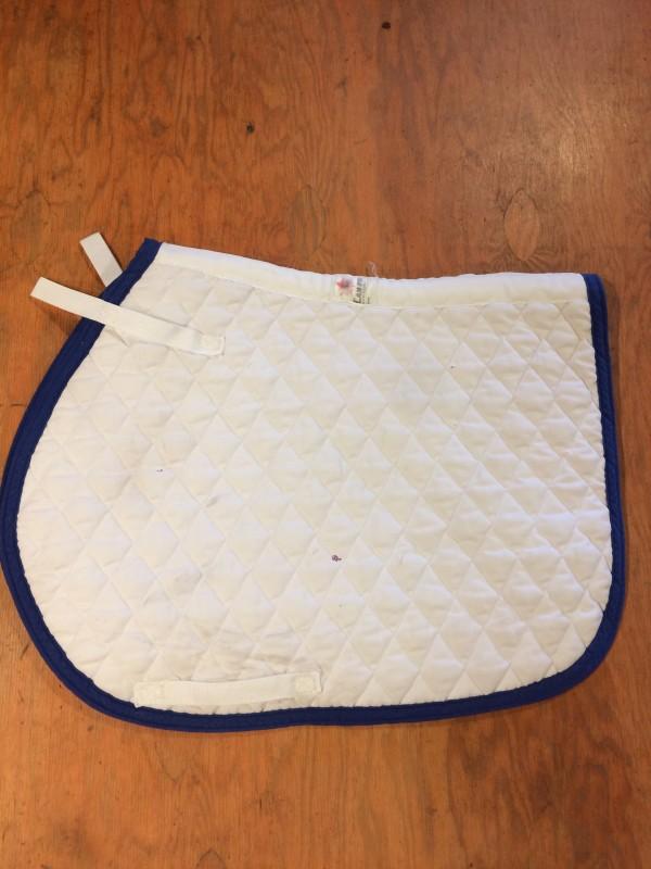 Saddle Pad - AP - White w/Blue trim - Can Pro - Fullij
