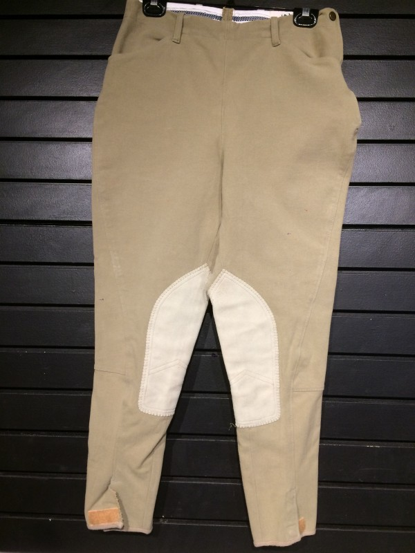 Breeches - Knee Patch - Olive - Harry Hall - 32