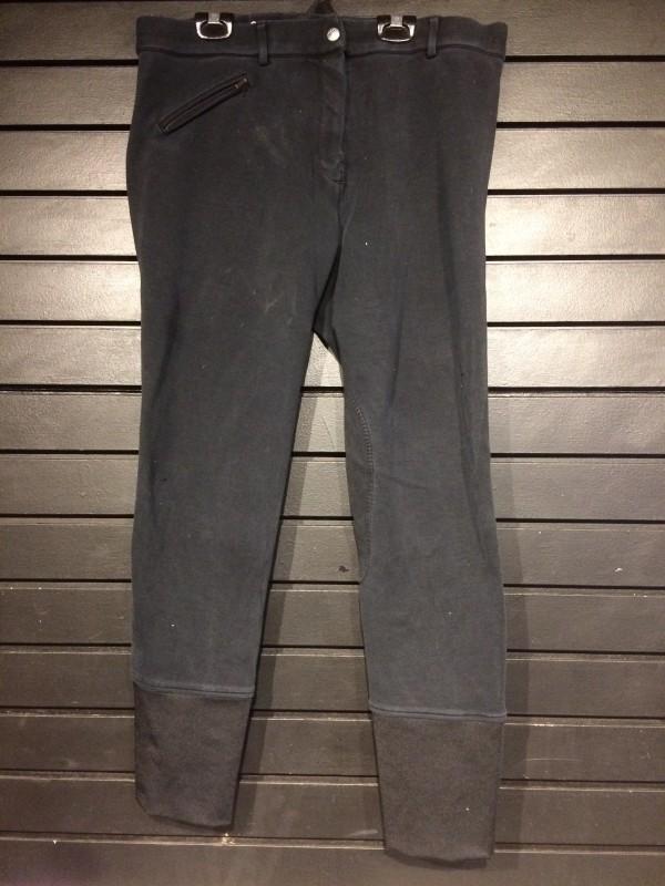 Breeches - Knee Patch - Black - Elation - 36
