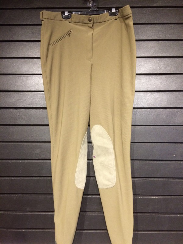 Breeches - Knee Patch - Olive - Tuff Rider - 36