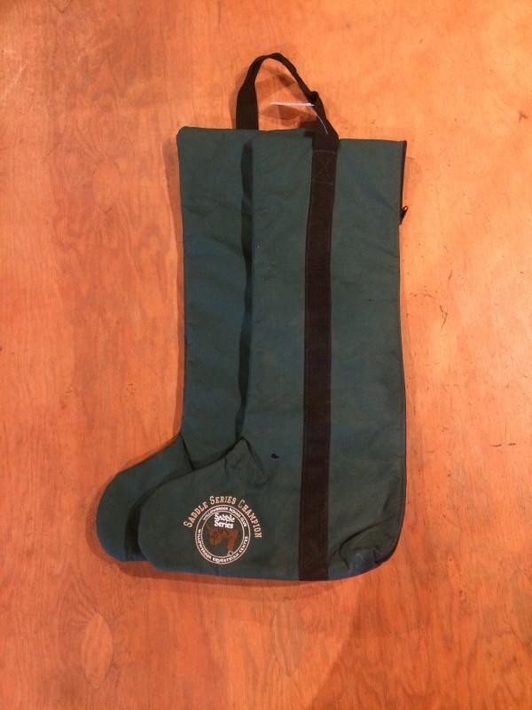 Boot Bag - Nylon - Fleece Lined - Hunter Green - World Class