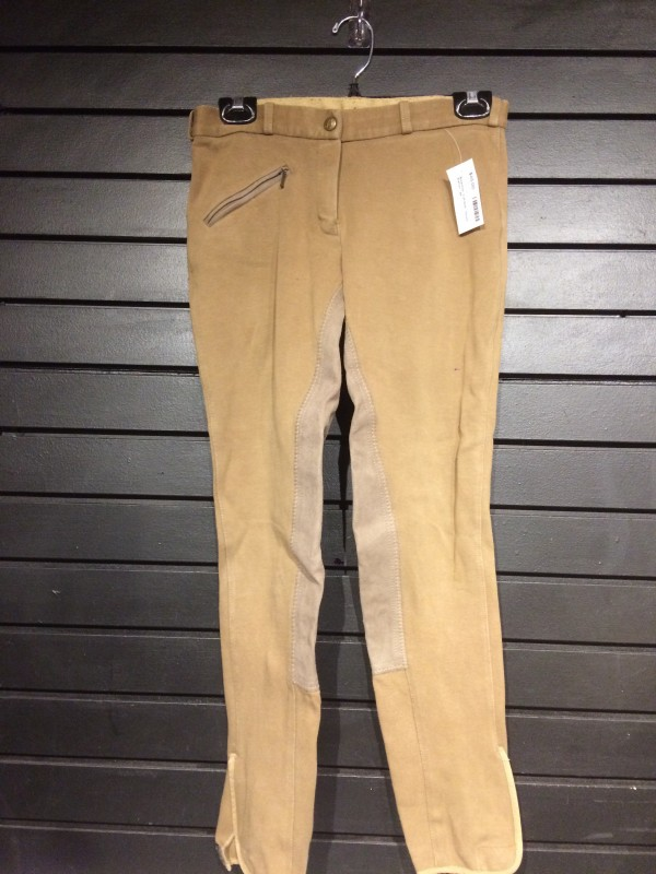 Breeches - FS w/ Fly & Velcro Bottom - Taupe - Elation - 28