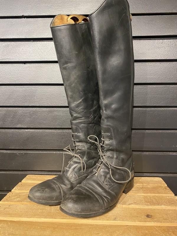 Boots - Field - Black - Ariat - Calf Slim/Height Med - 7.5 (17.5