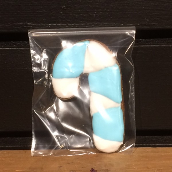 Horse Cookie - Medium - Candy Cane, Blue/White: Buy 4 Get 1 Free - Pony Nuggets