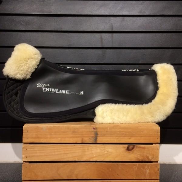 Half Pad - Shimmable w/ Sheepskin Trim - Black - Thinline - Full
