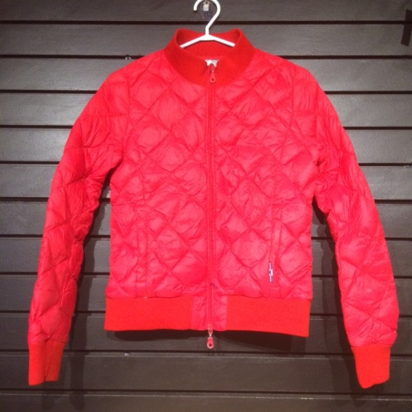 Jacket - Bomber - Quilted - Red - Horze - XS