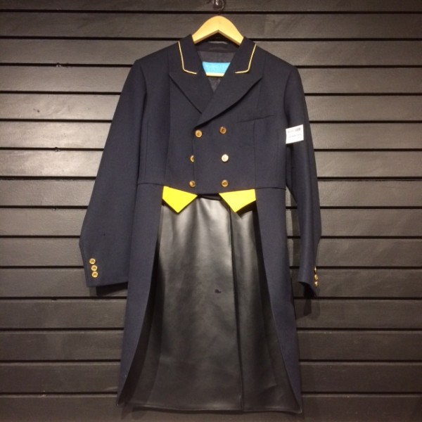 Jacket -  Shadbelly - Navy w/ Yellow Accents & Brass Buttons - Windsor - 10