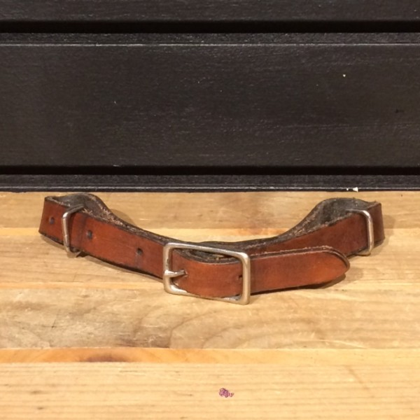 Chin Strap - Leather - Brown - Full - 21.5