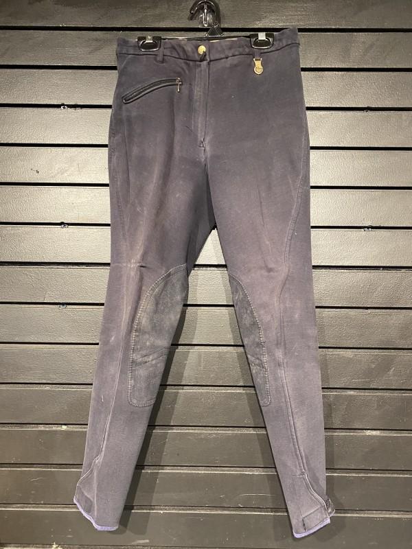 Breeches - Knee Patch - Front Zip - Black - Equi-Comfort - 28
