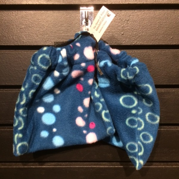 Stirrup Covers - English - Fleece - Blue w/ Dots - Queen of Polos