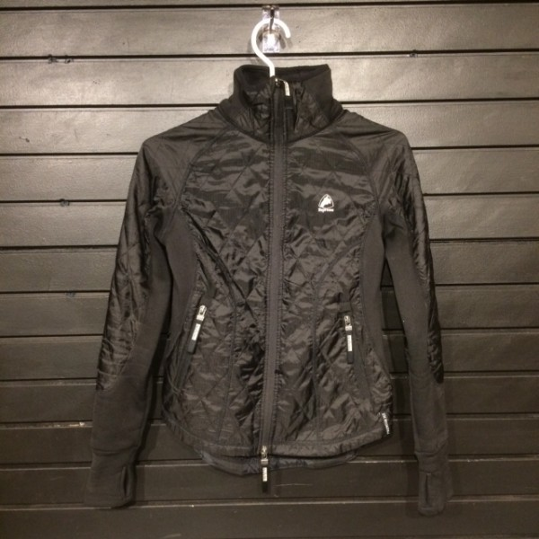 Jacket - Quilted Lightly w/ Stretch Side Panels & Zip - Black - Horze - XXS