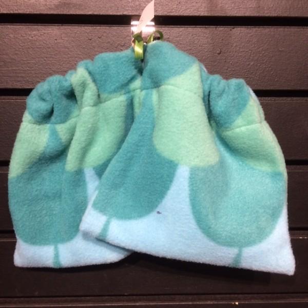 Stirrup Covers - Eng - Polar Fleece - Green/Teal Scales - Queen of Polos
