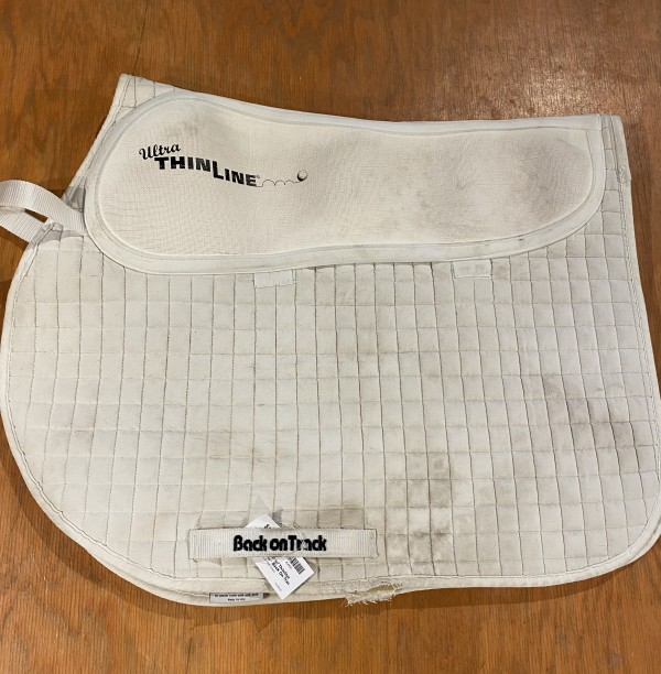 Saddle Pad - AP w/ Thinline Inserts - White - Back On Track - Full