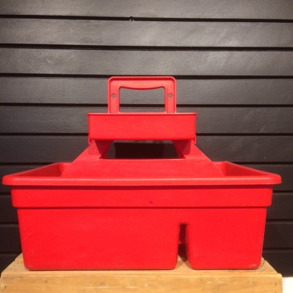 Grooming Caddy - Plastic - 2 Tier - Red - L