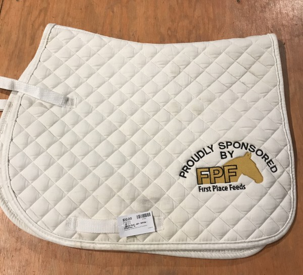 Saddle Pad - AP - White - Shedrow - F