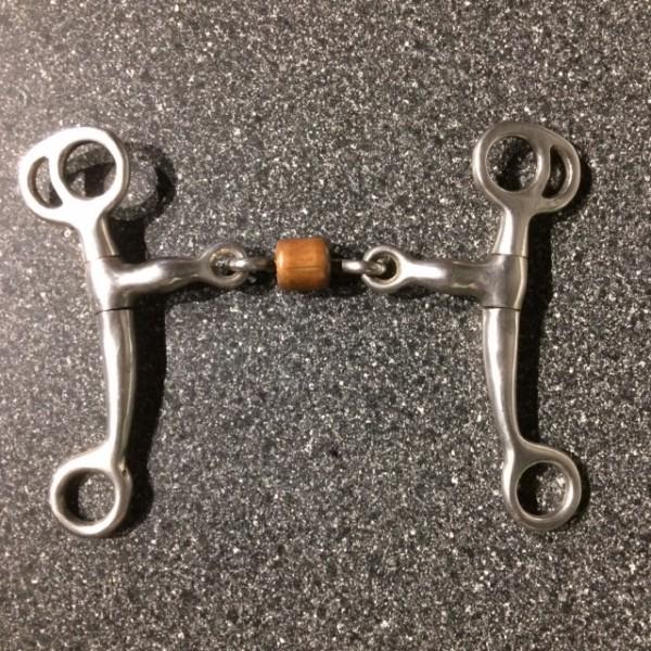 Bit - Shank - Double Jointed w/ Copper Roller - Silver/Copper - 5