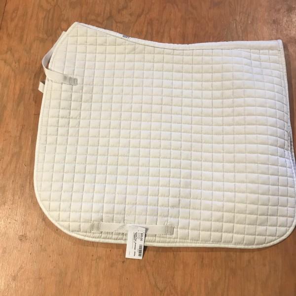 Saddle Pad - Dressage - White - Passport - F