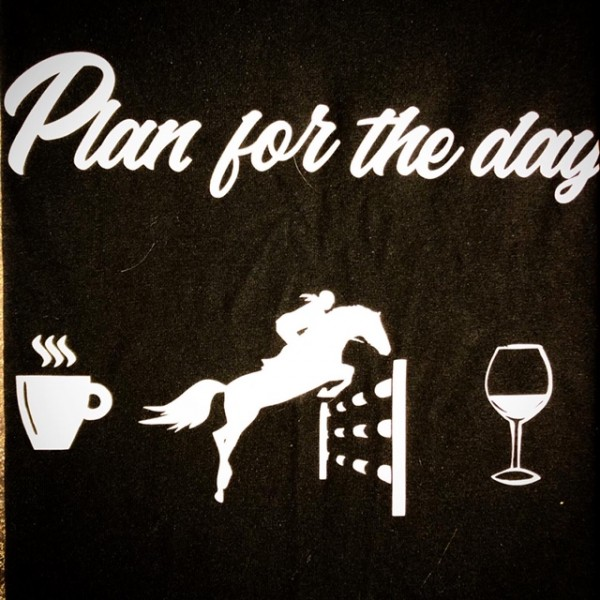 Shirt - T - Crew Neck - Black 'Plan For the Day' - XXL