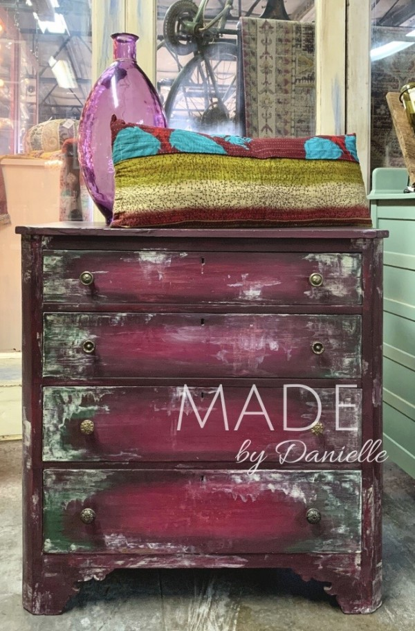 Boho Distressed Chest of Drawers
