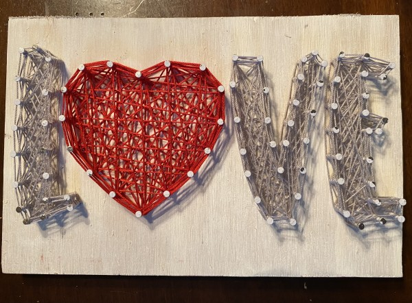 LOVE small string art sign